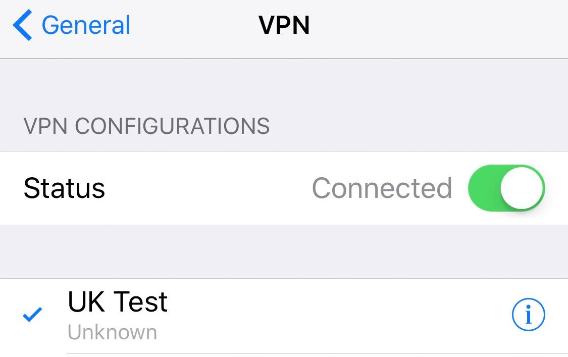 Manual VPN - iOS (iPhone and iPad) - Liberty Shield