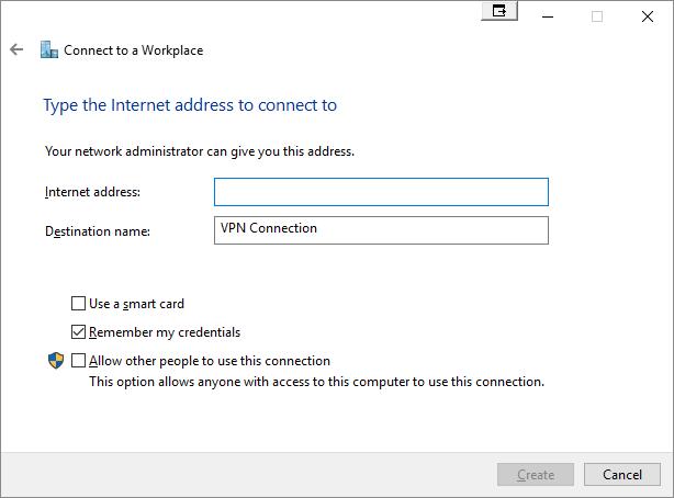 Manual VPN - Windows 8, 8 1 and 10 - Liberty Shield